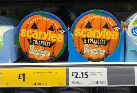 Halloween innovation for Dairylea triangles