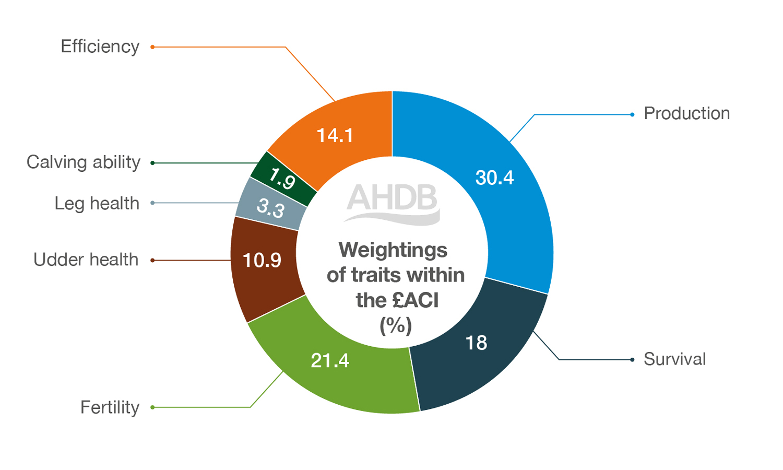 Weightings of £ACI-(Autumn-Calving-Index)