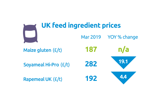 UK feed ingredients prices