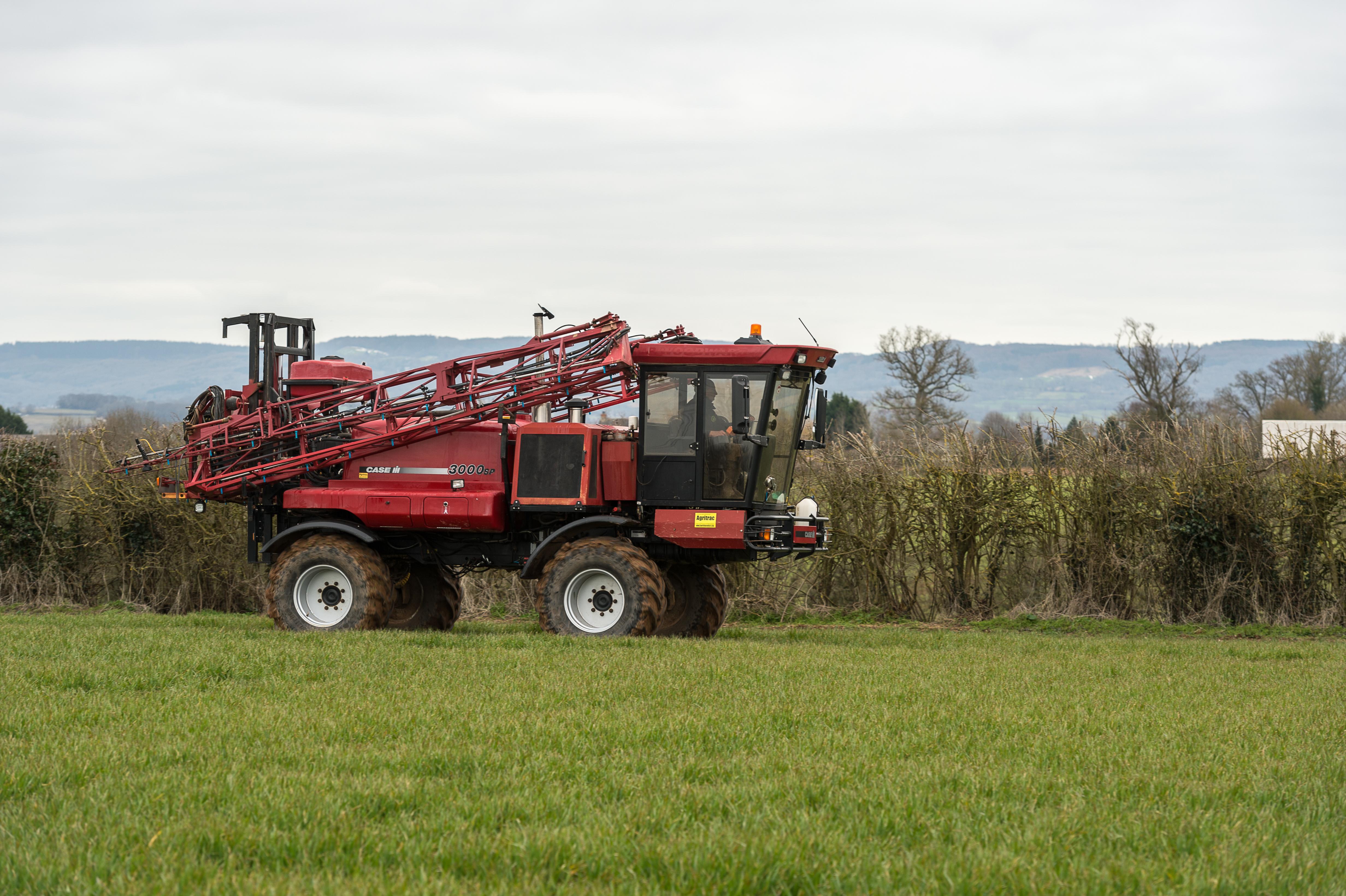 A crop sprayer at Richard Payne's farm