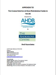 Appendix to the characteristics of high performing farms in the UK