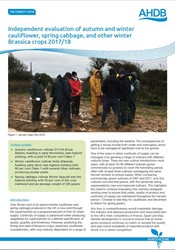 Independent evaluation of Brassica varieties 2017/18