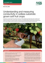 Understanding and measuring conductivity in soilless substrate grown soft fruit crops