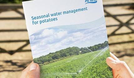 Seasonal water management for potatoes