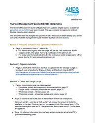 Nutrient Management Guide RB209 corrections