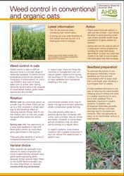 Weed control in conventional and organic oats