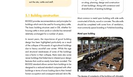 Dairy housing - building construction and design