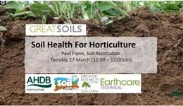 Soil health for horticulture - a GREATsoils webinar