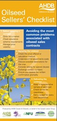 Oilseed sellers' checklist