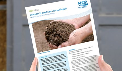 Compost is good news for soil health