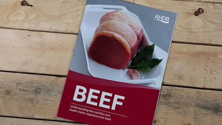 Understanding the nutrition and health claims regulations for Beef