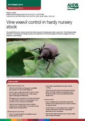Vine weevil control in hardy nursery stock