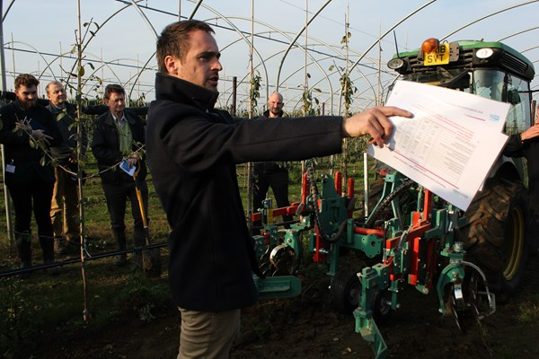 Dr Julien Lecourt during Plum Demonstration Day